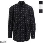 バレンシアガ BALENCIAGA オーバーサイズ シャツ ブラック メンズ モノグラム デザイン ブランド カジュアル 534333-tbl96-1070 ALL OVER オールオーバー