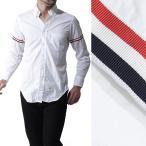 トムブラウン THOM BROWNE. ボタンダウンシャツ カジュアルシャツ ホワイト メンズ ストライプ トリコロール mwl150e-00906-114