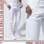 ショッピングディースクエアード ディースクエアード DSQUARED2 ボタンフライ ジーンズ ホワイト メンズ デニム s74lb0315-s39781-100 ウォッシュ:WHITE BULL COOL GUY JEAN