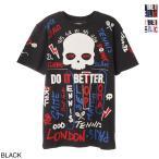 ハイドロゲン HYDROGEN クルーネック Tシャツ TENNIS GRAFFITI TEE メンズ tc0001-b06-black-red-blue