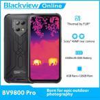 Blackview BV9800プロ熱画像スマートフォン48MP防水6580 3000 アンドロイド9.0 6ギガバイト + 128ギガバイトワ