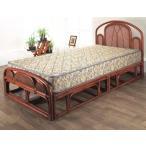 W-003SD ベッド 籐ベッド シングルベッド ラタンベッド すのこベッド ヘッドレスト フットレスト 和風ベッド アジアンスタイル 輸入ベッド