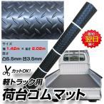 即日発送 ロール巻き ゴムマット サイズ 幅 1.42m × 長さ 2.02m × 厚さ 凸5.5mm 凹3.5mm 高品質・滑りにくい
