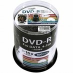 HIDISK DVD-R データ記録用 16倍速 4.7GB ホワイトプリンタブル スピンドルケース 100枚 HDDR47JNP100