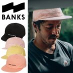 BANKS バンクス キャップ 帽子 LABEL HAT メンズ レディース DIRTY BLACK FADED PEACH 新作