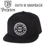 ブリクストン BRIXTON スナップバックキャップ OATH III SNAP BACK  ブラック 帽子 メンズ ユニセックス