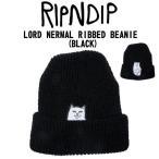 リップンディップ RIPNDIP  ニット帽 ニットキャップ ビーニー 帽子 ネコ LORD NERMAL BEANIE ブラック 正規品 2016 新作【メール便可】