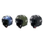 NAZ-202 ナンカイ(NANKAI)  ZEUS ジェットヘルメット サンシェードバイザー装備 ゼウス スターダスト フリーサイズ バイク