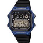 サッカー レフリーウォッチ カシオ レフェリー 審判時計 海外限定 スポーツウォッチ 10気圧防水 デジタル 腕時計 (A14FBP-203BLU) ランニング ウォッチ