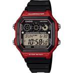 レフリーウォッチ サッカー フットサル 審判時計 カシオ CASIO 海外限定 スポーツウォッチ 10気圧防水 デジタル 腕時計 (A14FBP-204RED)  ランニング 時計