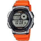 カシオ スポーツウォッチ 10気圧防水 メンズ デジタル 腕時計 (AE16FBP-304ORG) タイマー ストップウォッチ LEDライト付き CASIO 海外限定 ランニングウォッチ