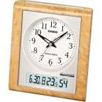 カシオ 電波時計 置時計 デジタル アナログ 目覚まし時計 おしゃれな 白木目調 (CL11OC03) 温度 湿度計 LED ライト付き 秒針 音がしない 静かな 電波置き時計