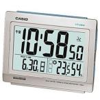 カシオ 電波時計 置時計 デジタル 目覚まし時計 おしゃれな シルバー (CL15JU01) 日付 曜日 カレンダー 温度 湿度計 LED ライト付き CASIO 卓上 電波 置き時計