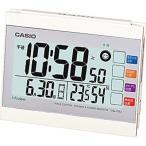 カシオ 電波時計 置時計 デジタル 目覚まし時計 アラーム スヌーズ 日付 曜日 カレンダー (CL15JU08) 温度 湿度計 LED ライト付き CASIO 卓上 電波 置き時計