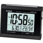 カシオ 電波時計 置時計 デジタル 目覚まし時計 ブラック 黒(CL15JU12BLK)温度 湿度計 アラーム スヌーズ LEDライト付き 大型液晶 CASIO 卓上 電波 置き時計