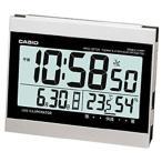 カシオ 電波時計 置時計 デジタル 目覚まし時計 見やすい 大型液晶 (CL15JU13SLV) 日付 曜日 カレンダー温度 湿度計 LED ライト付き CASIO 卓上 電波 置き時計