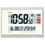 カシオ 電波時計 壁掛け時計 デジタル 掛け時計 ホワイト 白(CL15JU42WHT)日付・曜日 カレンダー 温度 湿度計付き 掛時計 CASIO 大型液晶 電波掛け時計