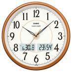 カシオ 電波時計 壁掛け時計 デジタル アナログ 掛け時計 アラビア数字(CL15JU50) 日付・曜日 カレンダー 温度 湿度計付き CASIO 大型液晶 電波掛け時計