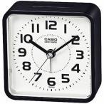 カシオ 電波時計 コンパクト 置時計 アナログ 目覚まし時計 おしゃれな ブラック 黒 見やすい アラビア数字 (CL20AP01BLK) アラーム CASIO 卓上 電波 置き時計