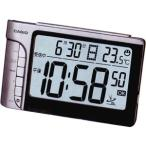 カシオ 電波時計 置時計 デジタル 目覚まし時計 シルバー 銀(CL7FB02)カレンダー アラーム スヌーズ 温度計 LEDライト付き 大型液晶 CASIO 卓上 電波 置き時計