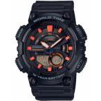 カシオ スポーツウォッチ 10気圧防水 メンズ デジタル アナログ 腕時計 10年電池 (QSD17DCP-101) 海外限定 CASIO マラソン ランニング 時計 アウトドアウォッチ