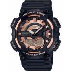 カシオ スポーツウォッチ 10気圧防水 メンズ デジタル アナログ 腕時計 10年電池 (QSD17DCP-102) 海外限定 CASIO マラソン ランニング 時計 アウトドアウォッチ
