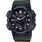 カシオ スポーツウォッチ 10気圧防水 メンズ デジタル アナログ 腕時計 10年電池 海外限定 CASIO マラソン ランニング 時計 アウトドアウォッチ (QSD17DCP-103)