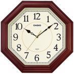 カシオ 壁掛け時計 アナログ 掛け時計 アラビア数字 ブラウン 茶(SCL16AP03BRW)スムーズ秒針 おしゃれな木目調デザイン CASIO 3針 ANALOG CLOCK 掛時計