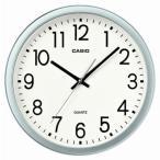 カシオ スタンダード 壁掛け時計 アナログ 掛け時計 アラビア数字 シルバー 銀(SCL16MA06SLV)ホワイト 白 文字板 スムーズ秒針 CASIO 掛時計