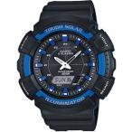 カシオ スポーツウォッチ 20気圧防水 ソーラー デジタル アナログ 腕時計 ダイバーズ(SD17OC01BKBU)ストップウォッチ LEDライト付き ランニングウォッチ