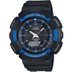 カシオ スポーツウォッチ 20気圧防水 ソーラー デジタル アナログ 腕時計 ストップウォッチ タイマー LED ライト付き マラソン ランニング 時計 (SD17OC01BKBU)