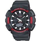 カシオ スポーツウォッチ 20気圧防水 ソーラー デジタル アナログ 腕時計 ストップウォッチ タイマー LED ライト付き マラソン ランニング 時計 (SD17OC02BKRD)
