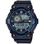 カシオ スポーツウォッチ 10気圧防水 デジタル アナログ 腕時計 (SD17OC09) ストップウォッチ LEDライト CASIO マラソン ランニング 時計 アウトドアウォッチ