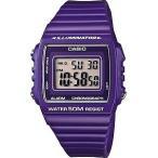 カシオ スポーツウォッチ 5気圧防水 メンズ デジタル 腕時計 バイオレット (W13MYP-104海外版) ストップウォッチ LEDライト付き CASIO マラソン ランニング 時計