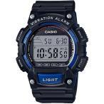 ランニングウォッチ カシオ スポーツウォッチ 10気圧防水 デジタル 腕時計(WH16JLP-102BKBU)バイブ 振動アラーム 海外限定 CASIO マラソン ランナーズウォッチ
