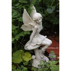 フェアリーテイルからやってきた小さな蝶々の女の子(マッシュルーム・フェアリー・ガーデンオーナメント)