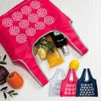 コンパクト エコバッグ 『ラウハ』 ショッピングバッグ 折りたたみ シンプル トート レジ コンビニサイズ マチ付 買い物 袋 おしゃれ //メール便発送可