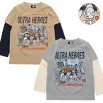 ウルトラマン 長袖 Tシャツ キッズ 男の子 100 110 120 パンソンワークス ウルトラヒーローズ 綿100% シンプル かっこいい プレゼント ギフト //メール便発送可