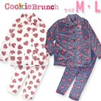 「CookieBrunch」 ミンクフリース ハート クッキーブランチ 女の子 ふわふわ パジャマ ルームウェア 冬 かわいい 【宅配便発送のみ】