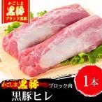 里脊肉 - 豚肉 かごしま黒豚 ヒレブロック 450g 国産 ブランド 豚肉 六白 ステーキ とんかつ お歳暮/御歳暮にも