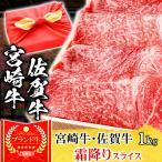 風呂敷 ギフト 肉 牛肉 宮崎牛 A5ランク 霜降りスライス すき焼き肉 1kg A5等級 和牛 黒毛和牛 国産 内祝い お誕生日