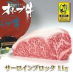 和牛 ブロック肉 サーロイン 1kg 送料無料 香川の和牛「讃岐牛 オリーブ牛のサーロイン」ローストビーフ ステーキ 焼き肉に最適