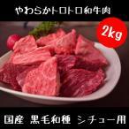 牛肉 和牛肉 シチュー用 1kg×2パックセット どかっと2キロカット済み (業務用)