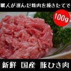 豚肉 国産 豚ひき肉 100g 新鮮生パック