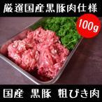 豚肉 国産 黒豚 粗びき肉 100g プロ使用  挽き肉
