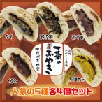 冷凍 おやき 人気の5種(野沢菜、なす、あずき、かぼちゃ、くるみ)各4個セット