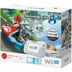 ショッピング本体 『中古即納』{本体}{WiiU}Wii U すぐに遊べる マリオカート8 セット シロ(WUP-S-WAGH)(20141113)