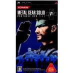 『中古即納』{PSP}METAL GEAR SOLID PORTABLE OPS +(メタルギア ソリッド ポータブル OPS+)(20070920)