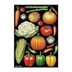 デコシールA4サイズ 野菜アソート1 チョーク 40275 代引き不可/同梱不可