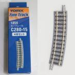 『中古即納』{RWM}1854 カーブレールC280-15(F)(4本セット) Nゲージ 鉄道模型 TOMIX(トミックス)(20151007)